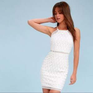Lulus White Crochet Lace Mini Dress